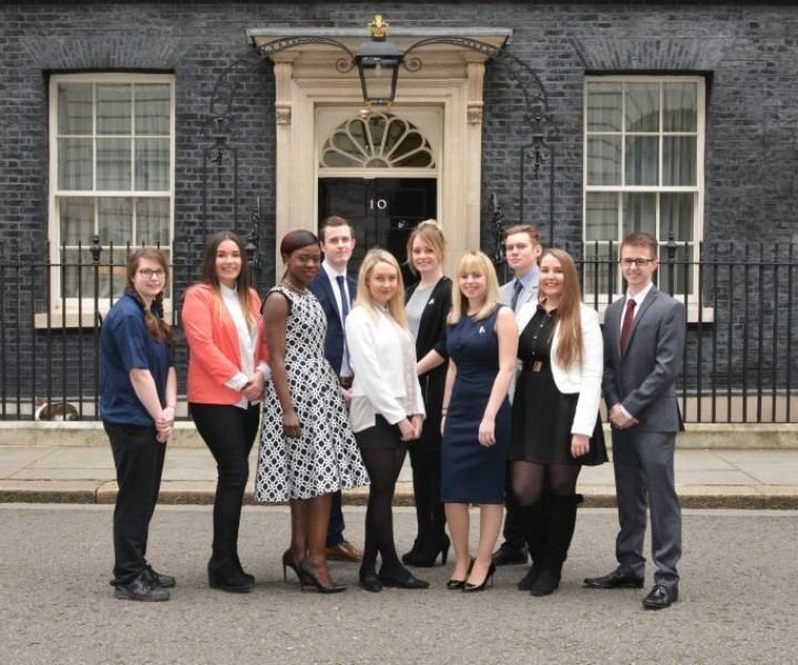 National Apprentice Week 2017 celebratory 10th year event at 10 Downing Street, London hosted by Minister Robert Halfon with Sue Husband, David Meller, David Hill and current and previous apprentices.. 10.3.2017 Photographer Sam Pearce/ www.square-image.co.uk