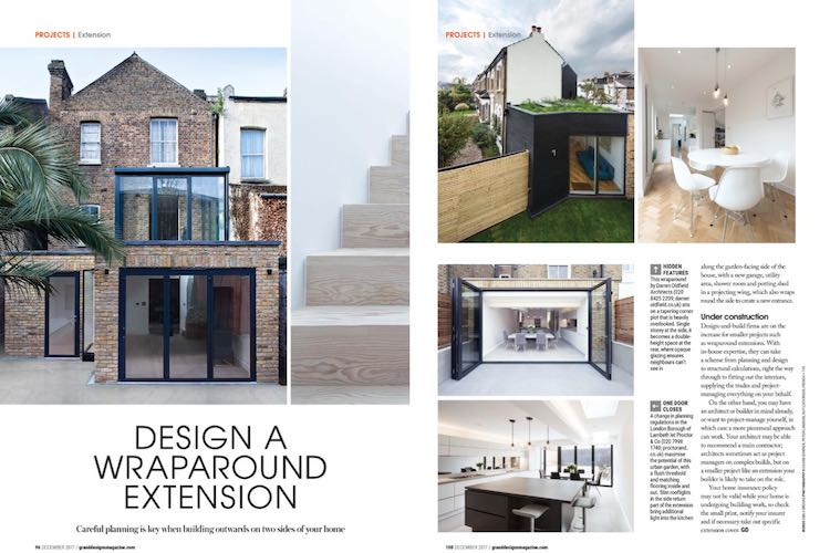Wraparound extensions in Grand Designs - Blue Engineering
